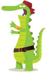 crocodile pirate pour enfant
