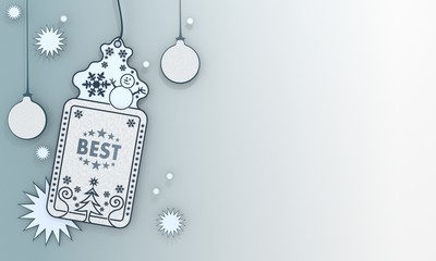 blue xmas coupon with best symbol