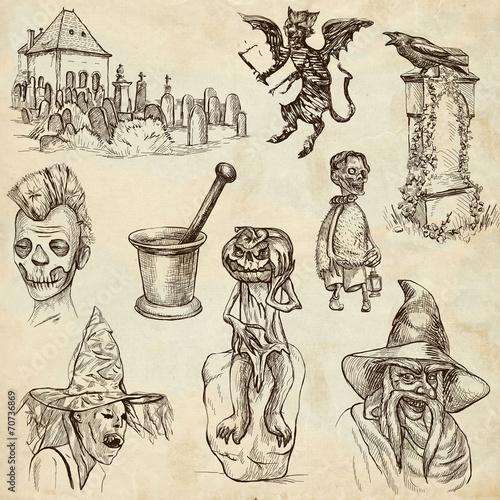 Staande foto Imagination Halloween - An hand drawn vector pack