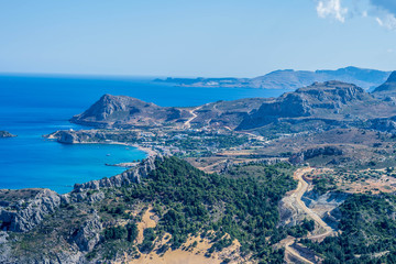 mountain view from Greece, Rhodes