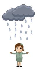Cartoon Vector Character - Raining
