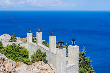 a view to the sea at Greece, Rhodes