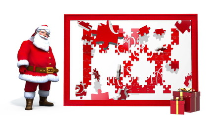 Santa Claus and Merry Christmas Puzzle