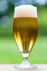 Elegant glass of cold refreshing beer