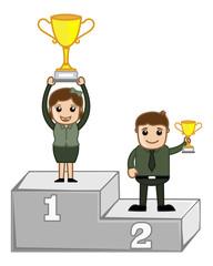 Cartoon Vector Character - Winners