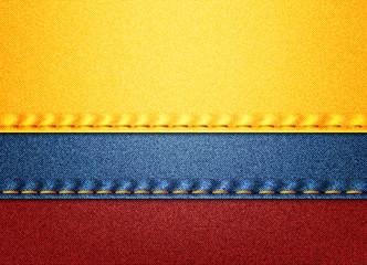 Colombia denim flag