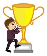 Cartoon Vector Character - Large Winner Cup