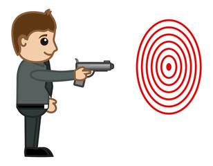 Cartoon Vector Character - Shooting