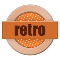button retro I