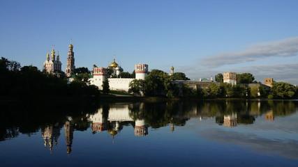 Novodevichy  monastery summer morning, timelaps.