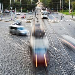 Verkehrssituation an einer Kreuzung