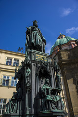 Statue of Charles V in Prague