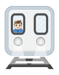 Cartoon Vector - Train Driver