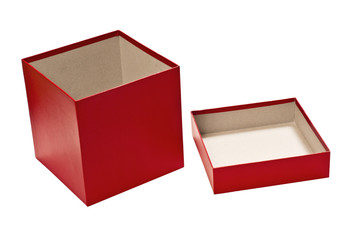 Red Empty Gift Box With Lid