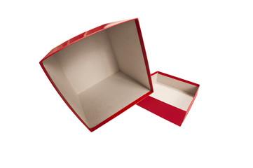 Red Empty Gift Box Spilling Out