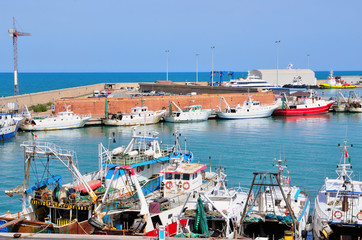the port of Termoli, Molise, Italy