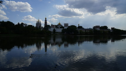 Novodevichy  monastery summer cloud by day.