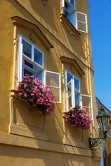 malerische Hausfassade in der Altstadt von Prag