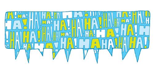 Speech bubble group laughter