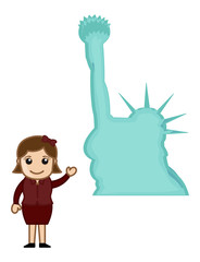 Statue of Liberty - Cartoon
