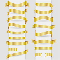 Gold ribbons collection set