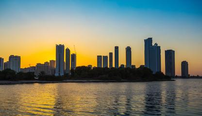 Skyscrapers in Sharjah city.UAE.