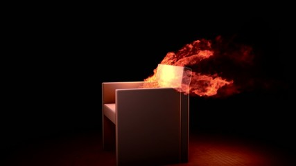 Burning armchair