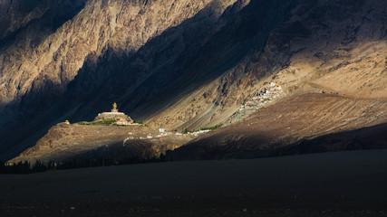 Diskit Monastery from Hunder Sand Dunes