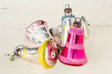Antique Glass Christmas Bells