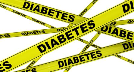Диабет (diabetes). Желтая оградительная лента