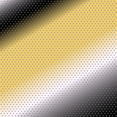 Vector halftone dots. black yellow background