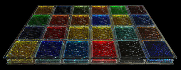 Colored glass blocks background