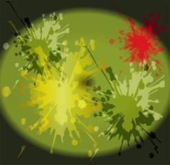 Watercolor paint splash background