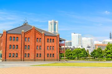 View of Minato Mirai 21 Area in Yokohama, Japan