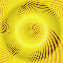 Yellow spiral background