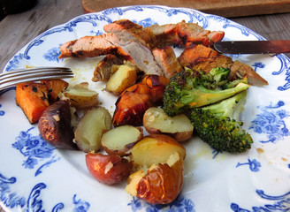 BBQ pork and vegetables
