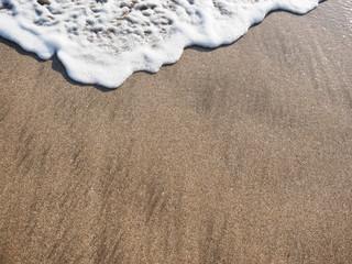 レギャンビーチの波打ち際