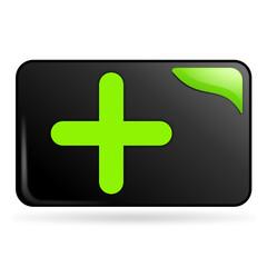 ajouter sur bouton web rectangle vert