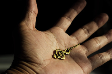 Music clef on hand