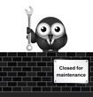 comical website closed for maintenance sign