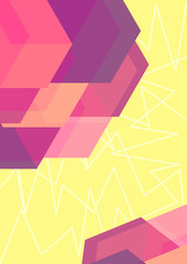 yellow polygonal abstract background