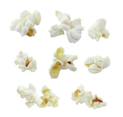 Pop corn collection isolated on white background