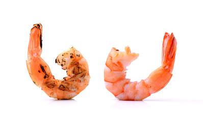 shrimps on a white background