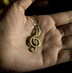 Music clef on hand