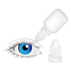 Illustration of Eye drop bottle isolated on white background