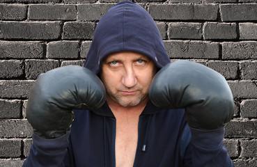 Боксёр спортсмен.