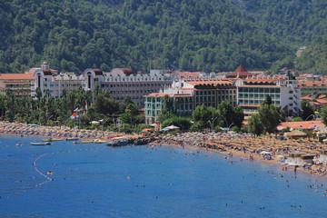 seascape, mountain, resort
