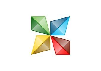 diamond logo geometry,fashion business icon,abstract vector