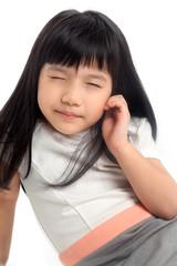 Kid narrowing eyes for vision