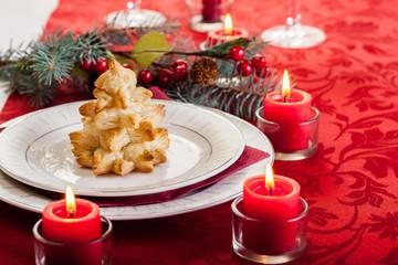 Baked christmas tree